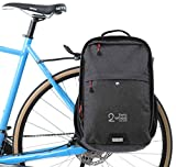 Two Wheel Gear - Pannier Backpack Convertible - 2 in 1 Commuting and Bicycle Touring Bag (Graphite)