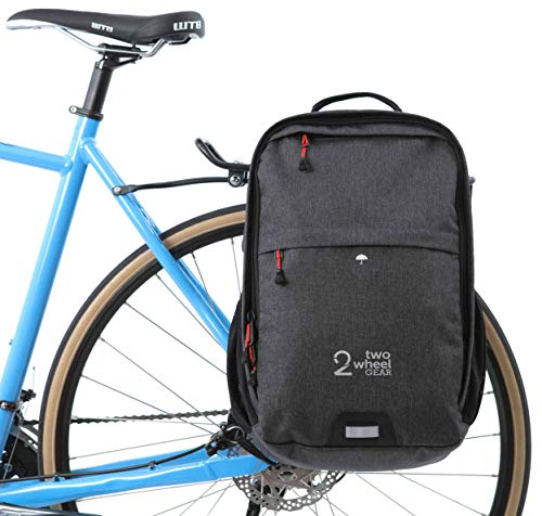 f76eed60d2db Two Wheel Gear - Pannier Backpack Convertible - 2 in 1 Commuting and Bicycle  Touring Bag (Graphite)
