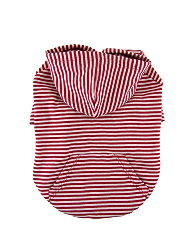 51VoJutp8mL - Red and white Striped Raglan Sleeves 1 x1 Rib Knit Cotton hoodie Dog Top Dog Clothing Made in USA for small dogs