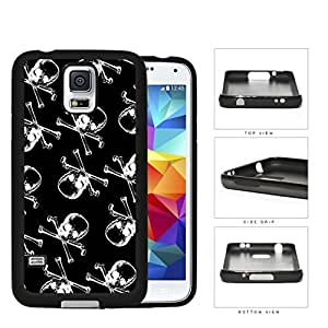 Pirate Skull And Crossbones B&W Rubber Silicone TPU Cell Phone Case Samsung Galaxy S5 SM-G900