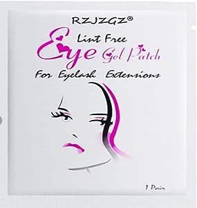 Wecando 100 Pairs Under Eye Gel Pads Eyelash Extension Pads Lint Free DIY False Eyelash Lash Extension Makeup Eye Gel Patches (50, Gold)