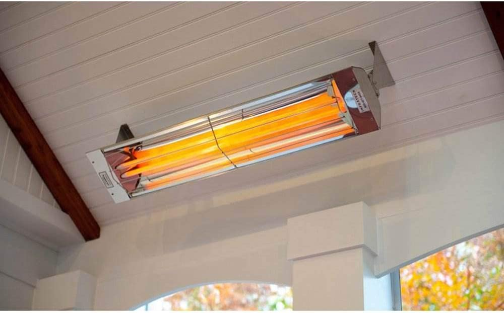 Infratech WD4024SS Dual Element 4,000 Watt Electric Patio Heater, Choose Finish Stainless Steel