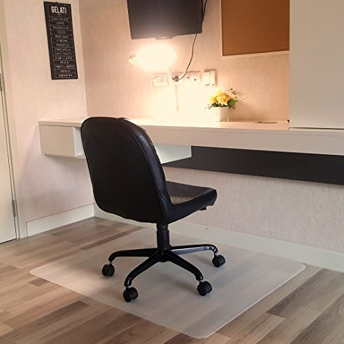 Office Chair Mat for Hardwood Floor by Grundsoo - 36 x 48 inches Rectangle floormat | Perfect for Vinyl and Laminate Floor Protection in Home & Office by Grundsoo