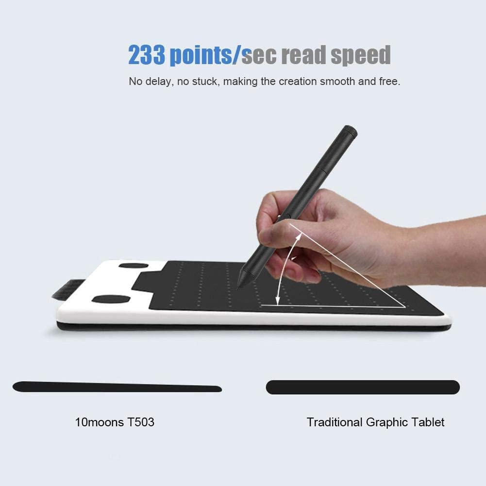 7 mm Ultra Slim Body Bewinner 6 Inch 8192 Levels Ultralight Graphics Tablet Support Windows XP-7//8//10//Android//OS x10.7-10.13,5080LPI 233 Points//sec High Speed ​​Drawing Boards
