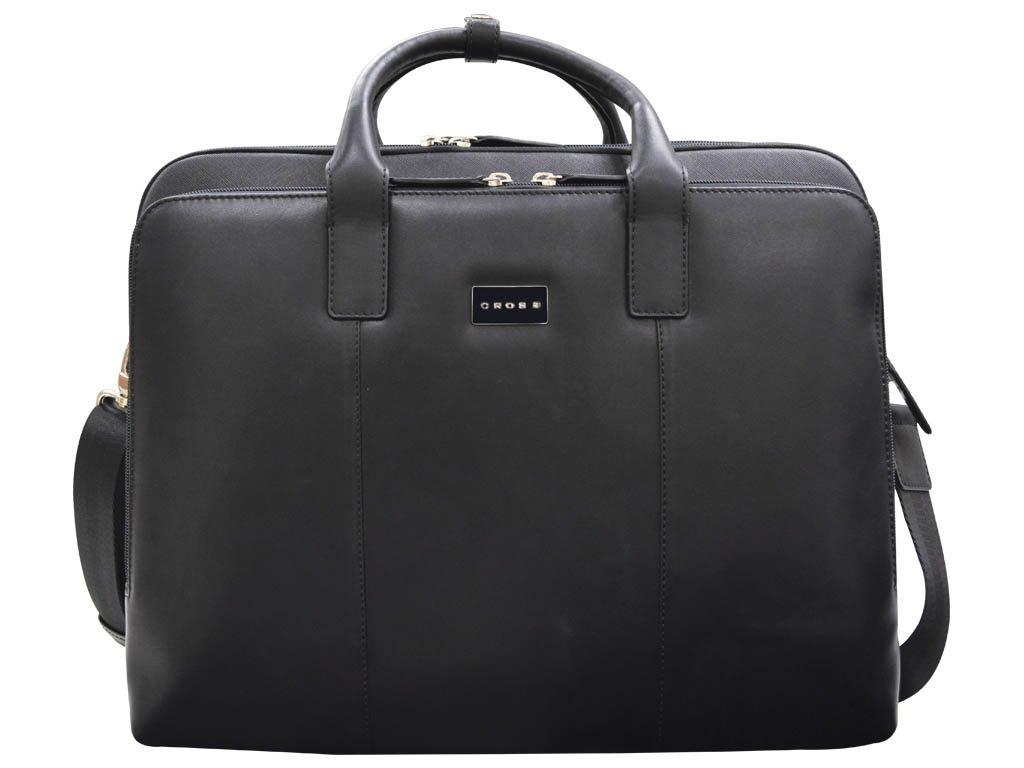 Cross Men's Artificial Leather Weekender Briefcase - Black