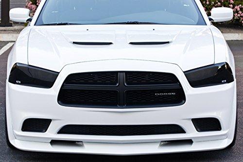 Dodge Charger R/T SRT8 V6 V8 Headlight Covers Smoke 2011 2012 2013 2014
