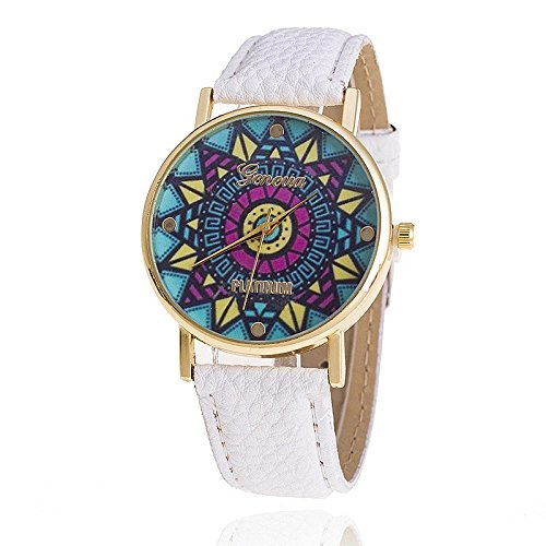 49b933cfbf3 Bysor(TM) Leather Strap Geneva Watch Relogio Feminino Fashion Women  Wristwatch Casual Luxury Quartz Watches AW1195  Amazon.co.uk  Watches