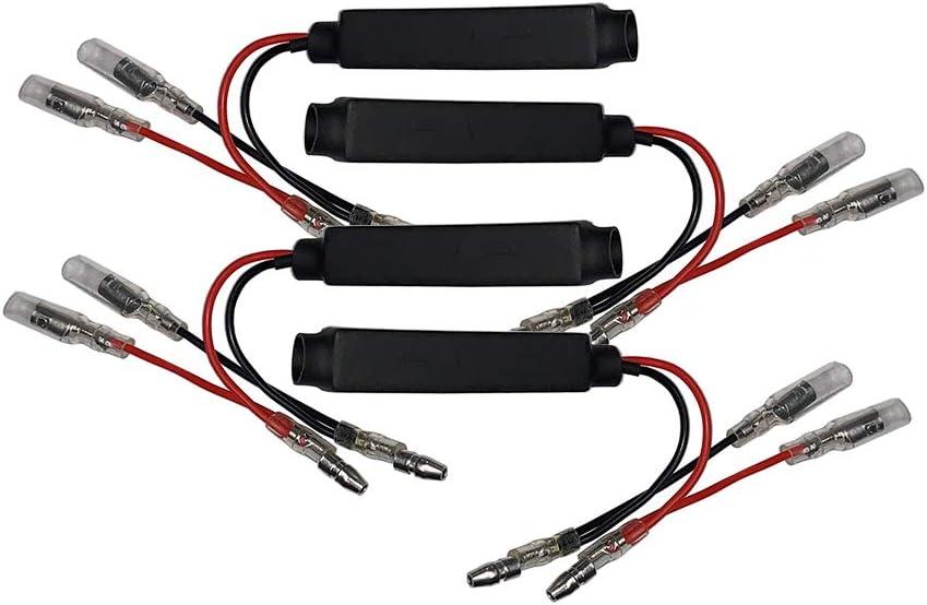12V LED Blinker Anzeige Widerstand anpassen Blitz f/ür Motorrad Moped Roller ATV UTV Evermotor Motorrad Lastwiderstand