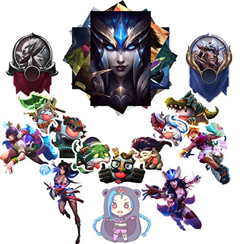 League of Legends Sticker Pack 20-Pcs, GTOTd Sticker Decals Vinyls for Laptop,Kids,Cars,Motorcycle,Bicycle,Skateboard Luggage,Bumper Stickers Hippie Decals Bomb Waterproof(Not Random)