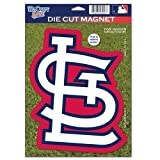 "MLB St. Louis Cardinals 82795010 Die Cut Logo Magnet, 6.25"" x 9"", Black"