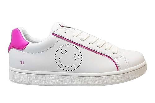 88cc7b708571 Trussardi Jeans 79A00133 Bianco Rosa e Bianco Rosso Sneakers Donna Scarpa  Sportiva (36, Bianco Rosa): Amazon.it: Scarpe e borse