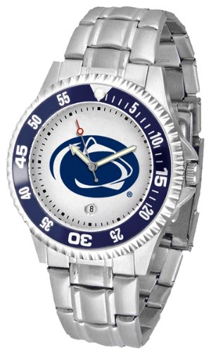 Penn State Nittany Lions Competitor Watch with a Metal (Ncaa Competitor Metal Band Watch)