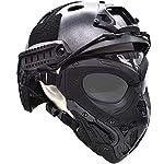 WLXW Masque De Protection Tactique Airsoft, Masque Complet Double Mode Portant Conception avec Sangle Réglable pour… 6