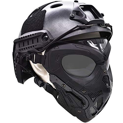 WLXW Masque De Protection Tactique Airsoft, Masque Complet Double Mode Portant Conception avec Sangle Réglable pour… 1