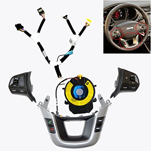 Sell by Automotiveapple, Kia Motors OEM Genuine Audio Remote Switch Control Steering Wheel Cover with Extension Wire 5-pc Set For 2012-2015 Kia Rio : All New Pride (Wire Hubcap)