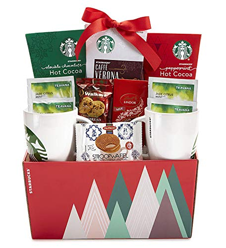 Starbucks Mugs, Sweets, Cocoa, and Coffee Gift Basket