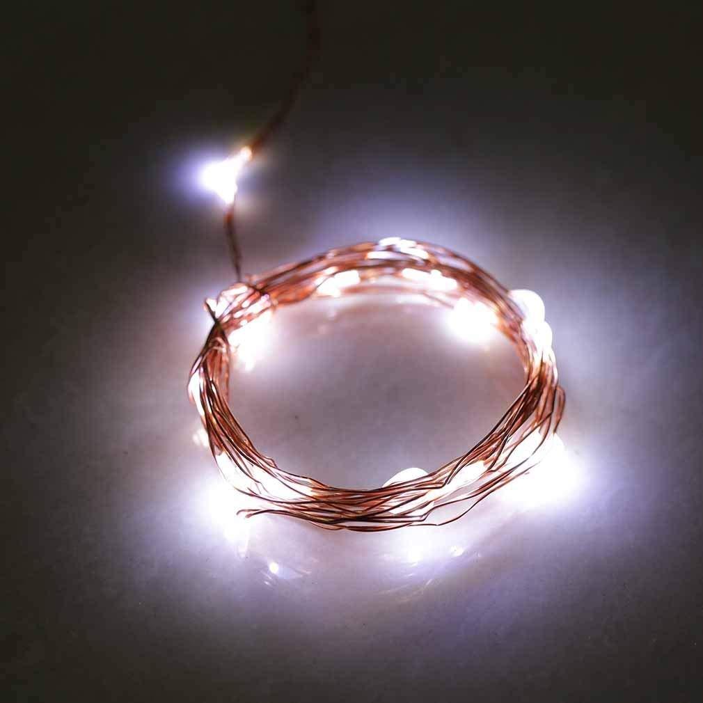 ONEVER 2M 20LED filo di rame di natale sposa leggiadramente della stringa della lampada della batteria leggera gestito