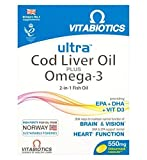 Ultra Cod Liver Oil Plus Omega-3-60 Capsules - 6 Pack