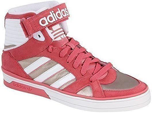 adidas - Zapatillas de caña alta de cuero mujer, color rosa, talla EU 38 2/3 | UK 5,5: Amazon.es: Zapatos y complementos
