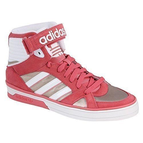 alta adidas mujercolor de cuero Zapatillas caña de rosa 45Aj3RL