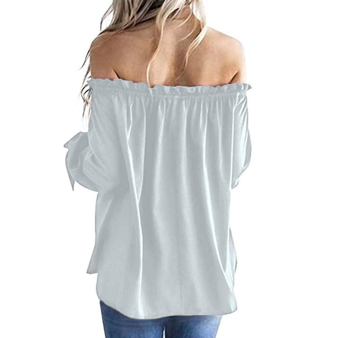 Amazon.com : Clearance Women Tops LuluZanm Cold Shoulder T-Shirt Tunic Top Blouse Casual Boat Neck Long Sleeve Blouse : Grocery & Gourmet Food