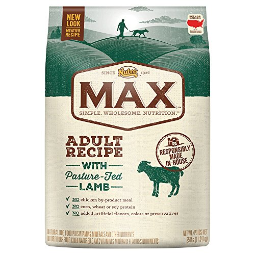 Nutro Max Adult Recipe With Pasture Fed Lamb Dry Dog Food, (1) 25-Lb. Bag.; Rich In Nutrients And Full Of Flavor