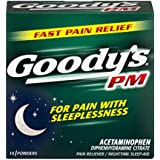 Goody's PM Powders | Pain Reliever + Nighttime Sleep Aid | 16 Count | Pack of 6