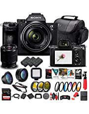 $2259 » Sony Alpha a7 III Mirrorless Digital Camera with 28-70mm Lens (ILCE7M3K/B) + 64GB Memory Card + 2 x NP-FZ-100 Battery + Corel Photo Software + Case + External Charger + Card Reader + More (Renewed)