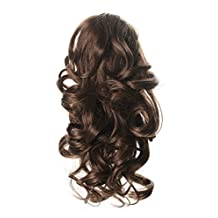 """OneDor 12"""" Curly Synthetic Clip In Claw Ponytail Hair Extension Synthetic Hairpiece 115g with a jaw/claw clip (10#-Medium Golden Brown)"""