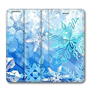 Beautiful Holidays Snowflakes Design Leather Cover for iPhone 6 Plus by Cases & Mousepads