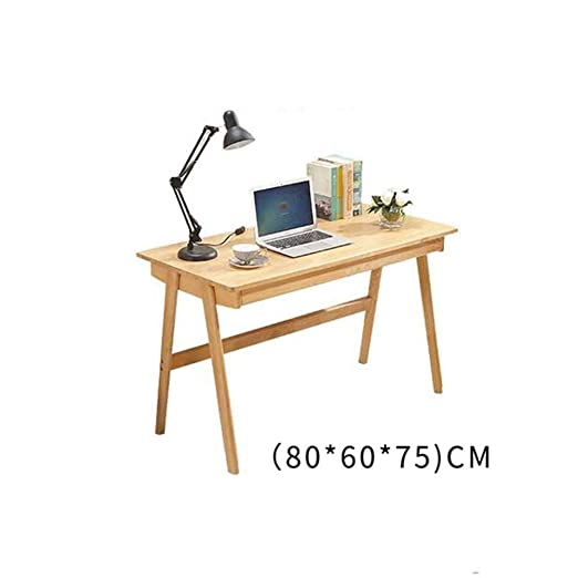 CRRQQ Mesa de Estudio Mesa de Madera Maciza Computadora de Estudio ...