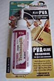 1 x CLEAR PVA ADHESIVE GLUE FOR PAPER CARDBOARD DIY MODELS BOOKS WATER RESISTANT STRONG 80ml NEW TECHNICQLL