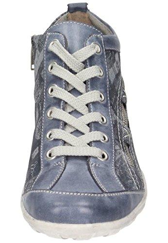 Remonte Mujeres botines beige, (ice/ice/schwarz) R3483-80 jeans/atlantis/hellg