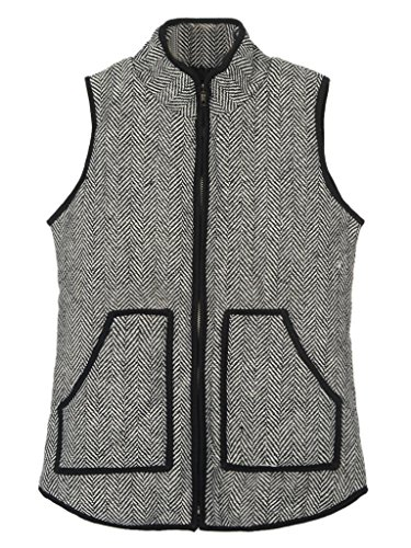 Persun Womens Quilted Puffer Pockets