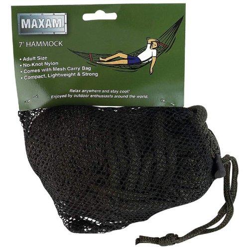 Maxam Mesh Army Green Hammock, Outdoor Stuffs