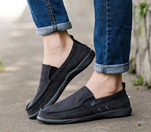 Scarpe scarpe da traspirante da di da uomo casual pigri WFL scarpe scarpe Nero uomo tela estate uomo pedali scarpe uomo da d47UZZ0wq
