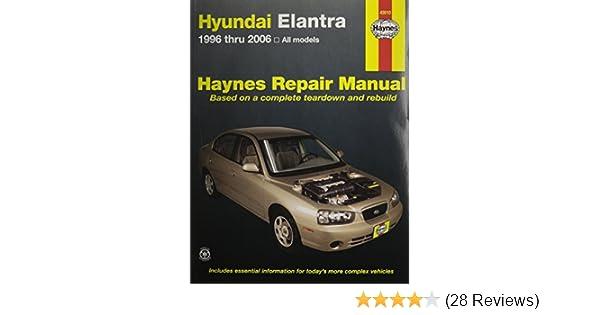 Hyundai elantra 1996 2006 haynes repair manual haynes hyundai elantra 1996 2006 haynes repair manual haynes 9781563927218 amazon books fandeluxe Gallery