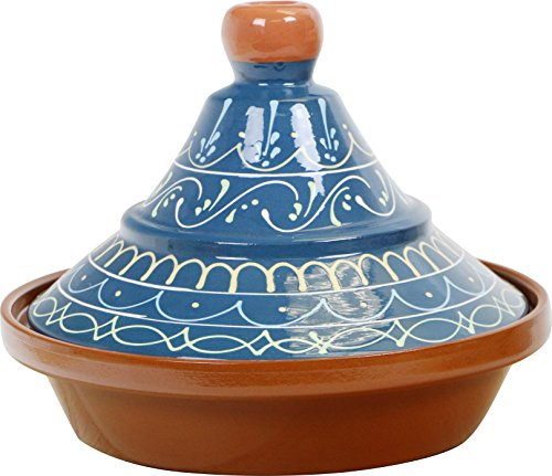 Reston Lloyd Eurita Terra Cotta Tagine 91908 Palma Pattern, 2 quart, Blue