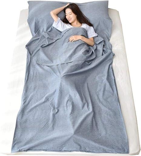 Travel Saco de Dormir algodón Hotel Evitar Sucio Saco de Dormir Adulto al Aire Libre portátil Ropa de Cama Saco de Dormir Forro: Amazon.es: Deportes y aire libre