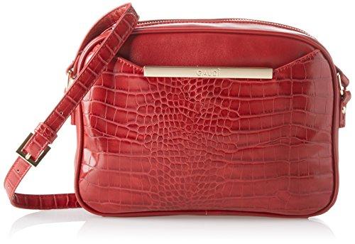 Gaudì Crossbody-Linea Audrey-cm. 25x18,50x6,50, Borsa a Mano Donna, 25x18.5x6.5 cm (W x H x L) Rosso (Red)