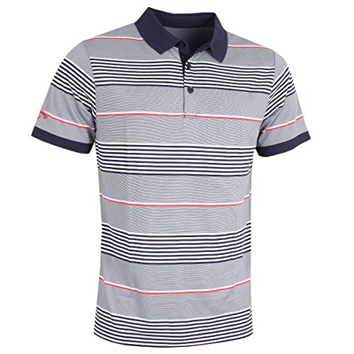 Callaway Golf 2018メンズopti-dri 3 Colour Stripe Golf Poloシャツ