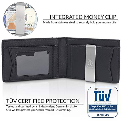 Image of TRAVANDO Mens Wallet Money Clip PHOENIX Front Pocket Slim RFID