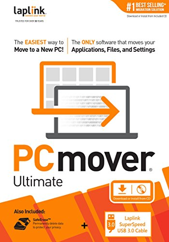 Software : Laplink PCmover Ultimate 11 With USB 3.0 Cable - 1 Use