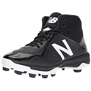 New Balance Men's PM4040v4 Molded Baseball Shoe, Black, 11 2E US