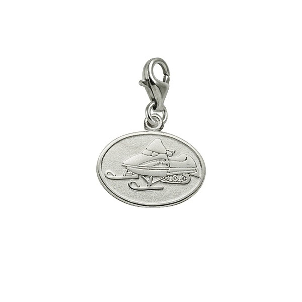 Charms for Bracelets and Necklaces Snowmobile Charm With Lobster Claw Clasp