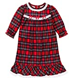 Little Me Little Girls' Christmas Pajamas -Red Plaid Nightgown 2t - 6X (6)