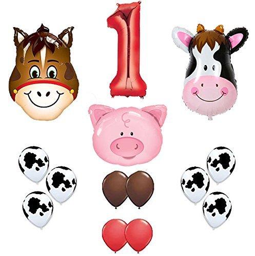 first birthday Farm Animal theme Balloons 36