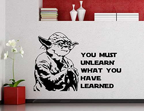 Star Wars Wall Vinyl Decal You Must Unlearn What You Have