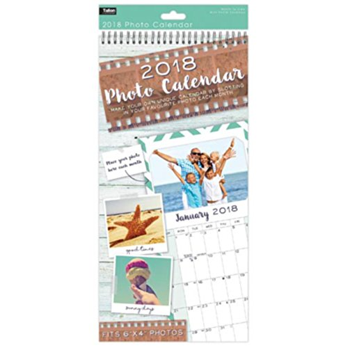 2017 insert create print your own photos a4 spiral bound wall 2018 insert your own photos large slim spiral bound wall hanging calendar month to view solutioingenieria Images