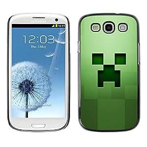 A-type Arte & diseño plástico duro Fundas Cover Cubre Hard Case Cover para Samsung Galaxy S3 (Fluencia Verde)